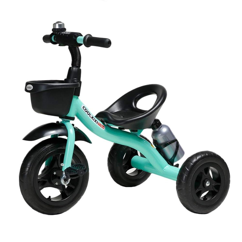 子供Trike 幼児のための子供のトライク子供のベビーカー三輪車、2 3 4 5 6歳の男の子の女の子のための3つの車輪のペダルのバイク、速いアセンブリ (色 : 青)