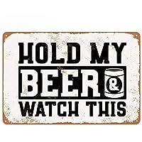 私のビールを保持レトロな金属錫サインプラークポスター壁の装飾アートみすぼらしいシックなギフト-20x30cm
