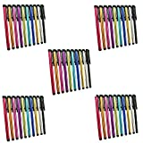 Metal Stylus Touch Screen Pen Compatible with Apple iPhone 4 4S 5 5S 5C 6 6 Plus iPad Galaxy Tablet Smartphone PDA (50pcs Mixed Colors