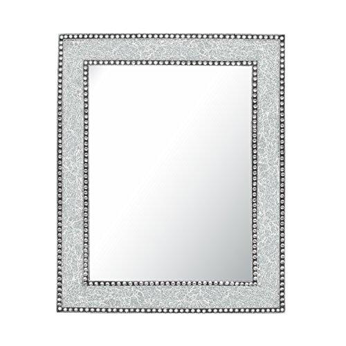 Crackled Glass Decorative Wall Mirror - 30X24 Mosaic Glass Wall Mirror, Vanity -