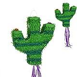 Makingifts Piñata Cumpleaños para Relleno de chuches y Regalos 1 Solo Uso Cactus 45 cm