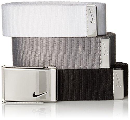 Nike Women's 3-in-1 Web Pack Belt, Black/White/Grey, One Size