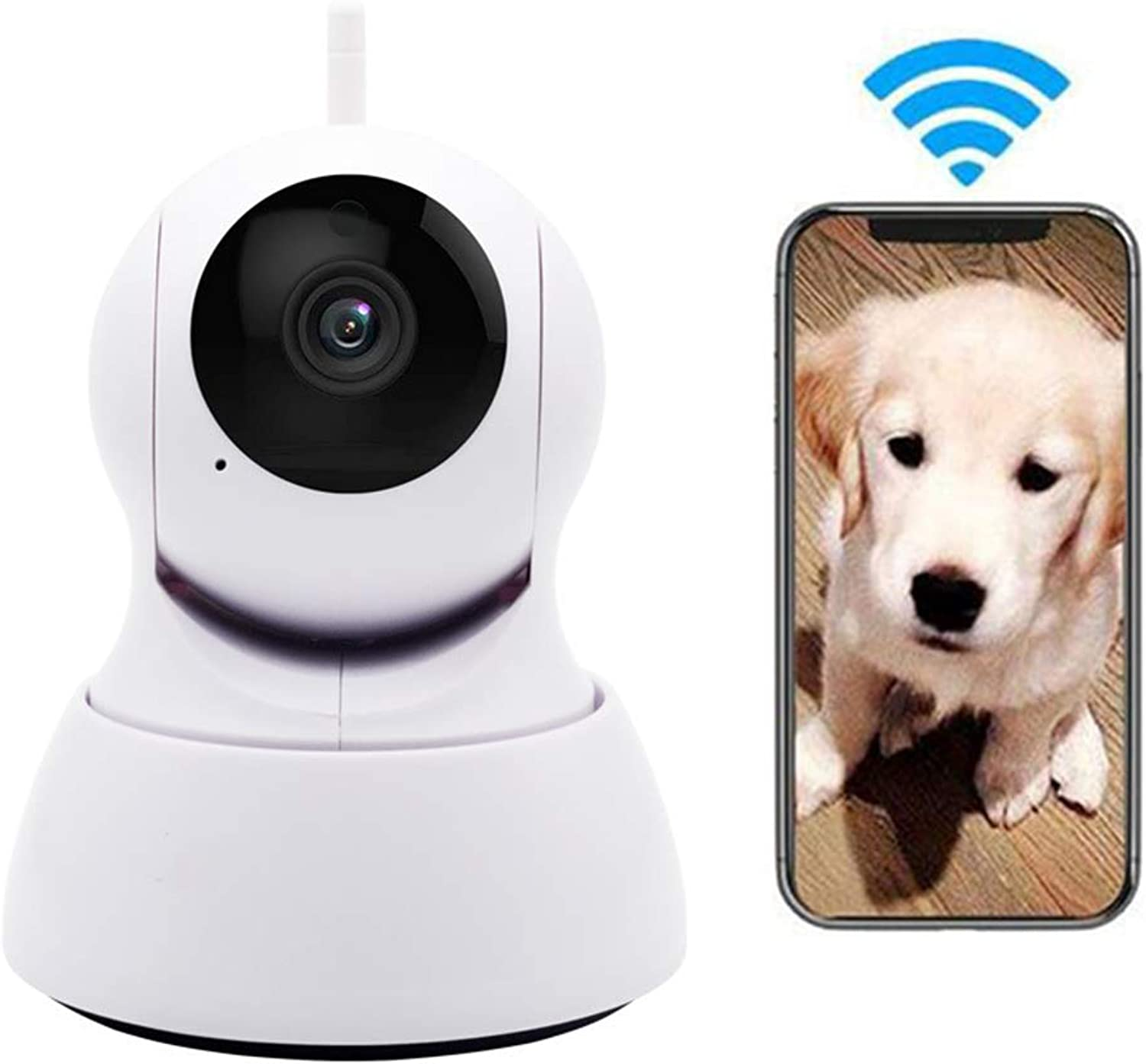 Pet Camera, WiFi Dog Monitor, Surveilance, 720P HD IP Camera, Indoor for Baby Pet with Motion Detection Night Vision TwoWay Audio Ptz redation Monitoring