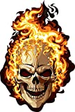 Fire Skull Ghost Rider - Sticker Graphic - Waterproof - Fade Resistant Die Cut