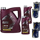 MANNOL Elite 5W-40 - Olio motore da 7 l, 2 motori Doctor + motore flush