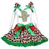 Cinco de Mayo Vestido Cactus Blanco L/S Camiseta de algodón RGW Chevron Falda niña Disfraz 1–8Y
