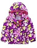 G-Kids Mädchen Wasserdicht Jacke Übergangsjacke Regenjacke mit Fleecefütterung Warm Winddicht Atmungsaktiv Wanderjacke Outdoorjacke Lila 98/104