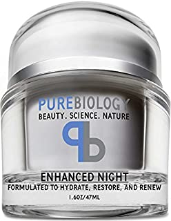 Pure Biology Night Cream Face Moisturizer with Retinol, Hyaluronic Acid & Breakthrough Anti Aging, Anti Wrinkle Complexes ...
