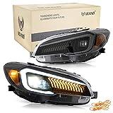VLAND Set fari anteriori luci posteriori a LED per WRX GJ STi 2.5 AWD 2013-2020 Blocchi fari posteriori (Fari con lenti a LED)