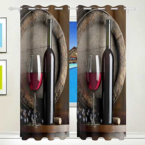cortinas dormitorio vino tinto