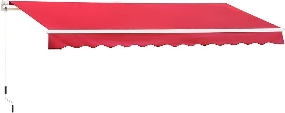 Outsunny, tenda da sole per esterno, avvolgibile a manovella, copertura impermeabile, metallo e alluminio IT840-151WR0631