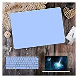 GYY para MacBook Air 11 12 13.3'Cubierta Clara De Cristal para MacBook Air Pro 13 15 16 Touch Barra/Touch ID A2289 A2338 M1 A2159 (Color : Matte Baby Blue, Size : A2159 A1706 A1989)