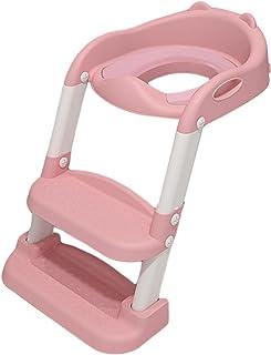 Kinder Toilettentrainer mit Treppe, Töpfchentrainer Faltbar und Tragbar, Töpfchen für Kinder von 1 bis 8 Jahre Höhenverste...