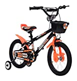 MAD MAXX Stainless-Steel Kids Road Cycle, 16 Inches (Multi-Colour, BMXMATTE16ORANGE)
