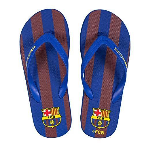 Chanclas FC Barcelona Fan Licencia Oficial Azul - Granate Talla EU 43-44