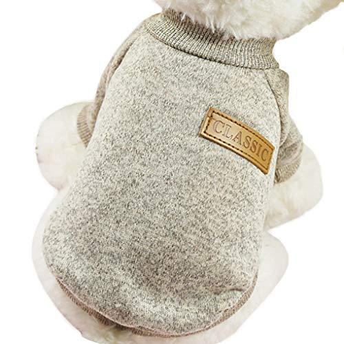 Morza Kleine Hunde Welpen-Katze-Kleidung Chihuahua-Winter-warme gestrickte Kleidung Weicher Strick Haustier-Weste-Strickjacke