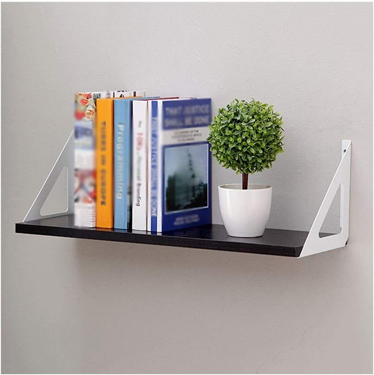 LQQFFCreative Table Creative Wall Shelves, Simple Multi-Function Racks, (color   Black, Size   60  20cm)