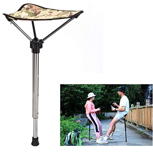 Otinlai Folding Stool Portable Seat Telescopic Stool Adjustable 3 Gear Height Suitable for People of Different Heights, Light Weight, Easy to Carry, Portable Stool Anytime, Anywhere!