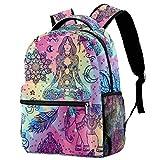 Mochilas escolares abstractas de meditación elefante mandala 16 pulgadas bolsa pequeña mochila para preescolar, guardería, escuela primaria