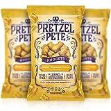 Pretzel Pete Honey Mustard & Onion Seasoned Pretzel Nuggets, Non-GMO, Small Batch, Bold Flavor, 9.5oz (3 Pack)