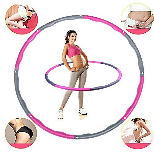 Schiuma Fitness Esercizio Hula Hoop, Perdere Peso, Fare Vita Sottile, Esercizio di Fitness, Esercizio Aerobico Assemblato Hula Hoop (Pink & Gray)
