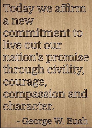 Norma Lily Heute Wir bestätigen, Eine Neue Verpflichtung, zu Leben. inspirierenden Zitat Zeichen, Laser Gedruckt auf Holzschild–Größe: 25,4x 45,7cm.