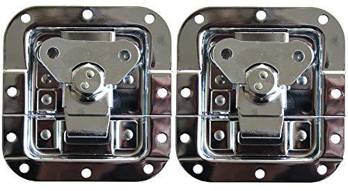 2 x vlindersluiting, middelmatig afsluitbaar, kast, rack, slot, Catch Lock