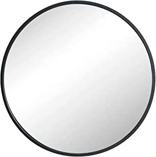 Huimei2Y Circle Mirror with Metal Frame, 19.7 Inch Round Wall Mirror for Entryway, Living Room, Bathroom & Bedroom (Black)