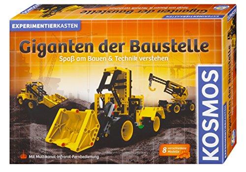 Kosmos 628161 Giganten der Baustelle, Spaß am Bauen und Technik verstehen, Baufahrzeuge bauen, mit Infrarot-Fernsteuerung, Grundlagen der Mechanik verstehen, Experimentierkasten