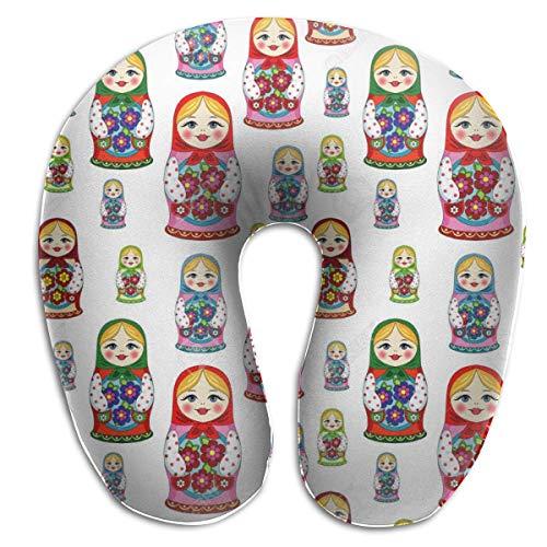 Almohada en Forma de U, Cuello, muñeca Rusa, Viaje, Almohada Multifuncional, Coche, avión
