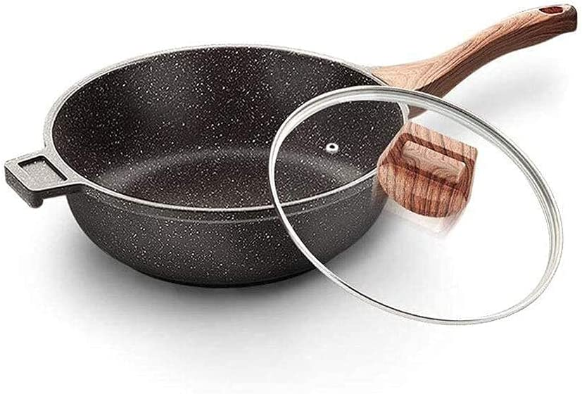 Fixed price for sale DCHENZI Max 71% OFF Non-Stick Wok Nonstick Woks and Pans Fry with Lid Stir