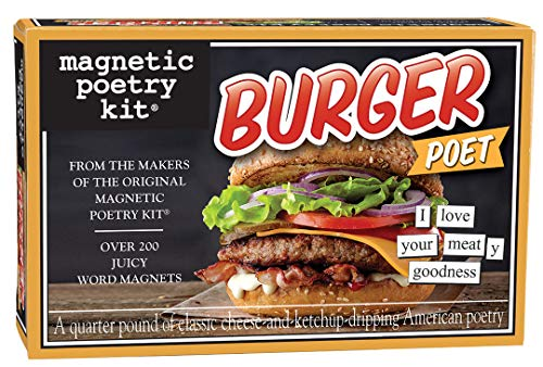 Magnetic Poetry Burger Poet Kit - Words for Refrigerator - Write Poems and Letters on The Fridge - Made in The USA