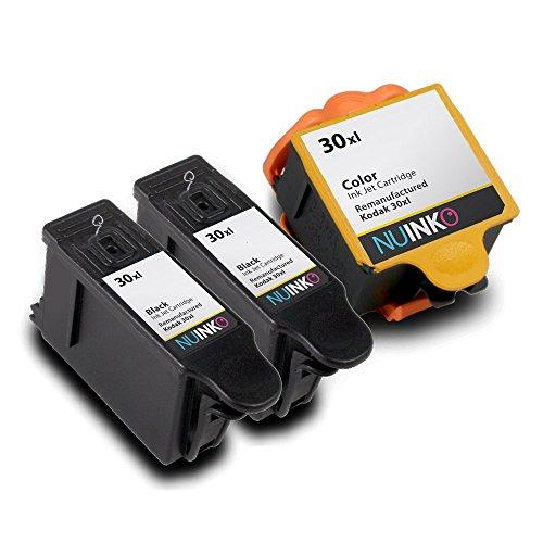 NUINKO 3 Pack Compatible Kodak 30 Ink Cartridges Black and Color for Kodak ESP C310 ESP 3.2 ESP C315 ESP C110 ESP Office 2170 ESP Office 2150 HERO 5.1 HERO 3.1 HERO 4.2 Inkjet Printers