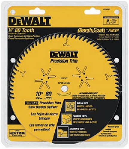 New sales DEWALT DW3218PT 10-Inch 80 Tooth with Crosscutting ATB Blade supreme Saw
