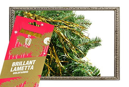 goldenes Stanniol Lametta Brillant-Lametta Staniol Baumschmuck Weihnachtsdeko 10 gramm