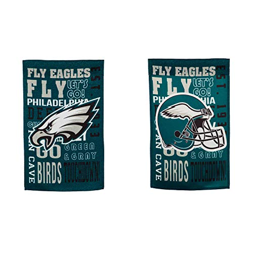 Team Sports America Philadelphia Eagles Fan Rules Garden Flag - 13 x 18 Inches