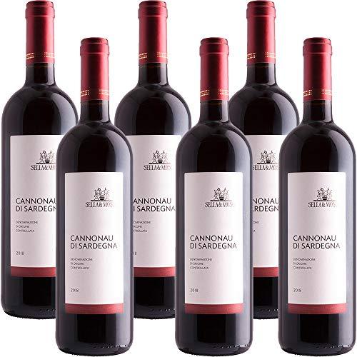 Cannonau di Sardegna | Sella & Mosca | Confezione da 6 Bottiglie da 75 Cl | Vino Rosso di Sardegna | Idea Regalo