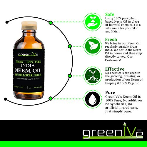 Greenive - Neem Oil - 100% Organically Grown Neem Oil - Cold Pressed Virgin Neem Oil - Exclusively on Amazon (128 Ounce (1 Gallon))
