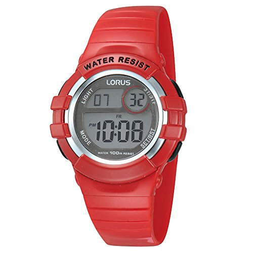 Lorus R2399HX9 Reloj digital para niños con correa de resina