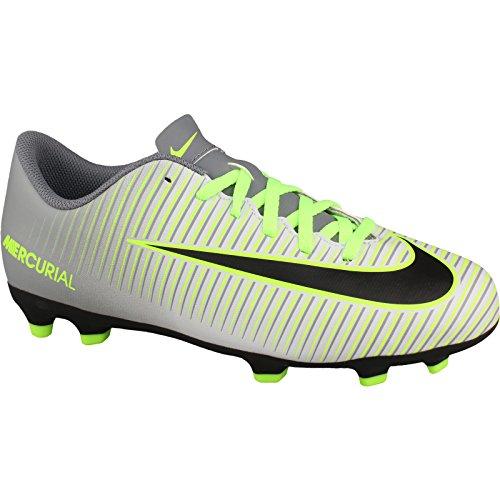 Nike JR Mercurial Vortex III FG, Botas de fútbol para Niños, Plateado (Pure Platinum/Black-Ghost Green), 33 1/2 EU