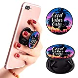 Ufbara Phone Finger Expanding Stand Holder Kickstand Hand Grip Widely Compatible with Almost All Phones Cases (Good Vibes)