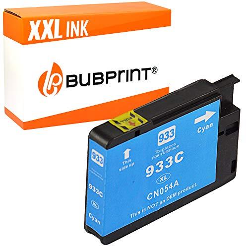 Bubprint Druckerpatrone kompatibel für HP 933XL 933 XL für OfficeJet 6100 e-Printer 6600 e-All-in-One 6700 Premium 7110 7510 7610 7612 Wide Format Cyan