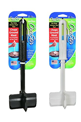 Chopstir Food and Ground Meat Chopper (Set of one black and one white)
