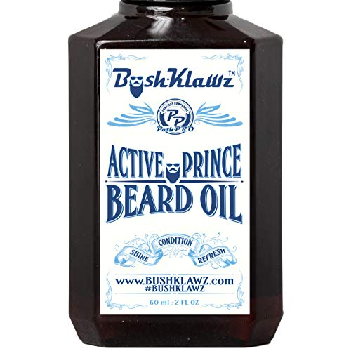 Active Prince Beard Oil Conditioner Premium Beard Moisturizer Refreshing Scent 2 oz - Best Leave in...