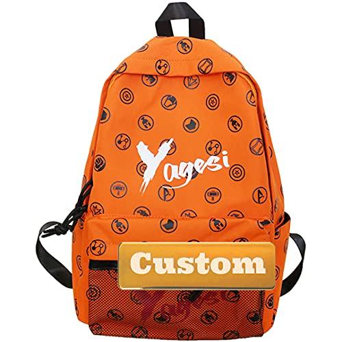 Mzhizhi personalizzato personalizzato nome borsa donna casual piccolo zaino per gli uomini casual viaggio (colore : marrone, taglia unica)