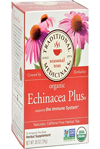 Traditional Medicinals Organic Echinacea Plus Herbal Tea - 16 Tea Bags