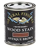 General Finishes Water Based Wood Stain, 1 Pint, Antique Brown