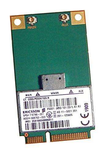 F532121Mbps WWAN Network 3G Card Edge/GPRS/GSM Verwendung für HP 8570W 8570p 9470m 2570p 8470W SPS: 710788–001