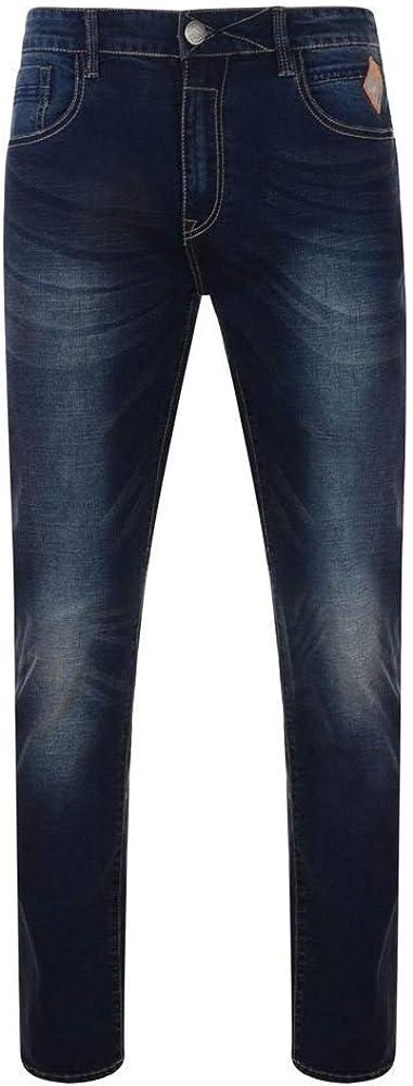 Kam Mens Regular Fit Selling rankings Stretch Dark Sergio Jeans Wash Max 86% OFF in Waist 4