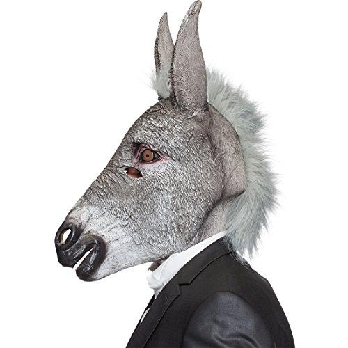 Amakando Eselmaske Maultier Tiermaske Eselsmaske Latex Esel Maske Karnevalskostüme Accessoires Donkey Faschingsmaske Muli Latexmaske